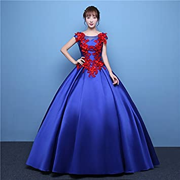 JKJHAH Vestidos Para Cantantes Mujeres Vestidos De Fiesta Rojos, Royal Blue, S
