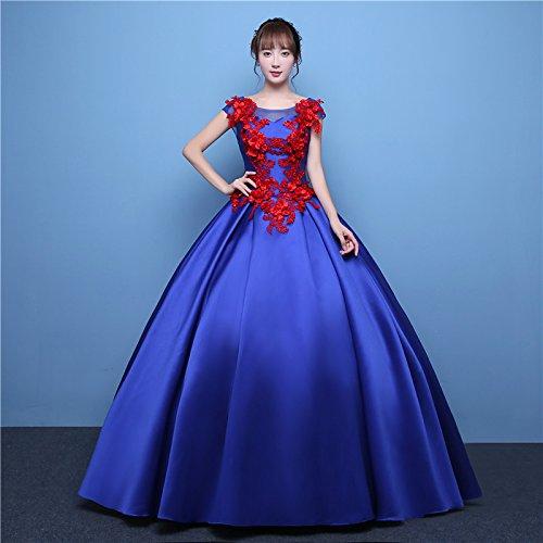 Royal bleu S JKJHAH Robe De Chant Femme Robe De Soirée Rouge