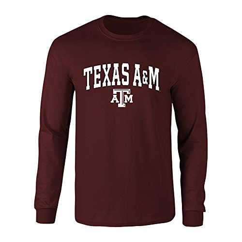 (Elite Fan Shop Texas A&M Aggies Long Sleeve Tshirt Varsity Maroon - L)