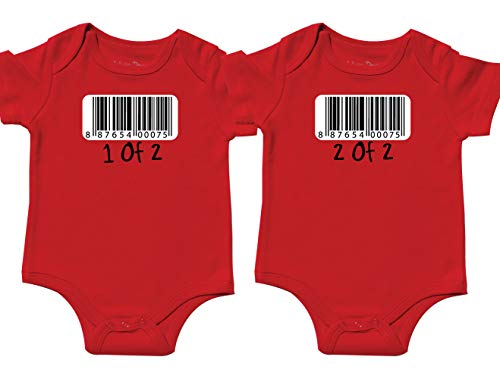 Nursery Decals and More Cute Outfit for Twins, Includes 2 Bodysuits, 0-3 Month Barcode for $<!--$26.99-->