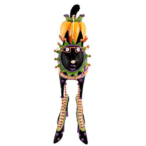 Patience Brewster Black Cat Candle Holder - Krinkles Halloween Décor New (Patience Brewster Halloween Krinkles)
