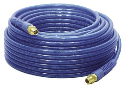 "Apache 15026303 Urethane/Brass Reinforced Roofing Air Hose Assembly, 1/4"", 200 psi Maximum Pressure, 100' Length"