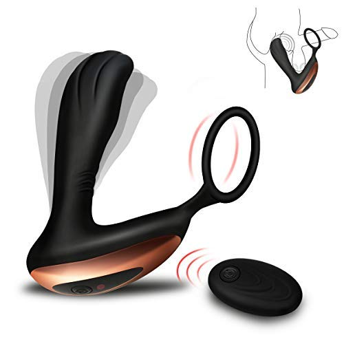 Male Prostate Massager with Penis Ring for Incredibly Powerful Orgasms, PALOQUETH Vibrating Anal Toys 7 Variable Vibration Patterns with Wireless Remote by PALOQUETH (Image #9)