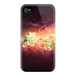 Shock-dirt Proof Abstract 3d Case Cover For Iphone 4/4s