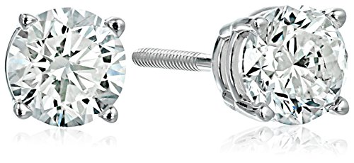 14K Gold Diamond Stud Earrings (K-L Color, I1-I2 Clarity)