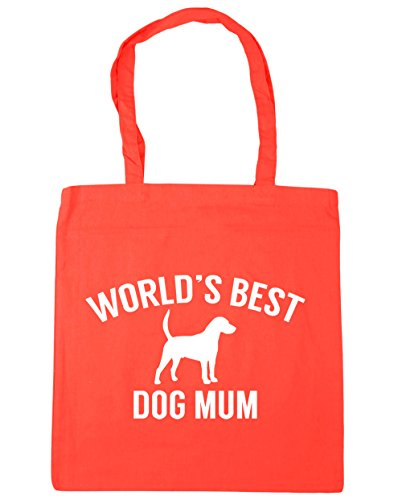 litres best 10 mum Beach Tote x38cm Bag HippoWarehouse 42cm Coral Gym Shopping World's dog fgwSA5x7q