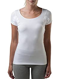 Thompson Tee Sweat Proof Undershirts with Underarm Sweat Pads, Slim, Scoop Neck