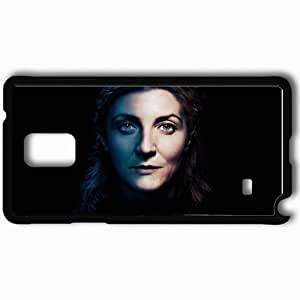 Personalized Samsung Note 4 Cell phone Case/Cover Skin Game of Thrones Michelle Fairley Catelyn Stark face TV Series Black