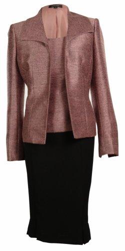Kasper Women's Three Pieces Business Suit Skirt Tank & Jacket Set