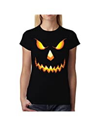Pumpkin Head Halloween Horror Women T-shirt XS-2XL New