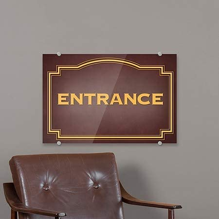 Entrance 5-Pack 27x18 Classic Brown Premium Acrylic Sign CGSignLab