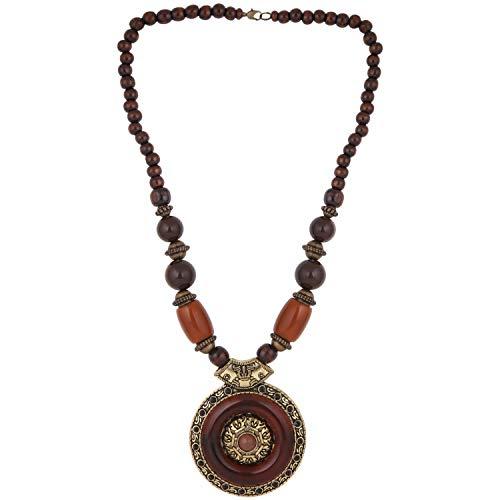 Art Jaipur - Efulgenz Boho Indian Oxidized Beaded Vintage Tribal Statement Necklace Jewelry Fashion Costume Accessory for Girls Women