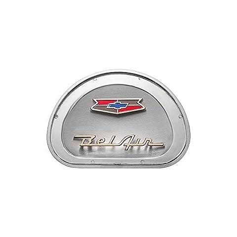 Eckler's Premier Quality Products 57-130893 Chevy Horn Center Emblem, Bel Air,