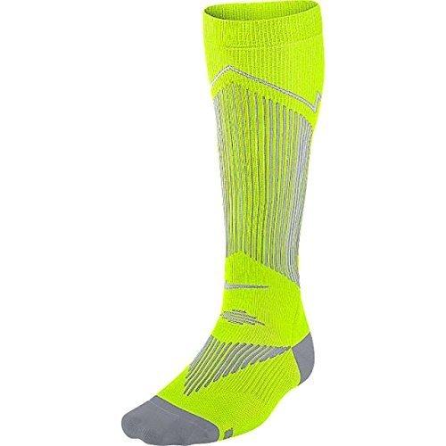 Nike Mens Elite Graduated Compression OTC Running Socks Volt/Black