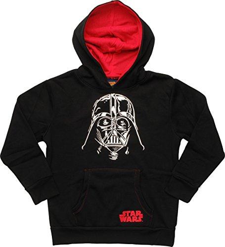 r Wars Darth Vader Helmet Pullover Youth Hoodie, LG ()