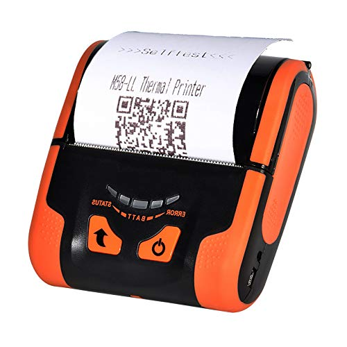 ([Upgrade 4.0] Protable 80MM Bluetooth Mobile Thermal Receipt Printer MUNBYN Printer with Carry Leather Belt Support Loyverse POS Software Supported ESC/POS)