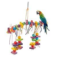Mini Lindos Juguetes de pájaros para Colgar Hamaca Escalera de Madera Budgie Juguetes para Cockatiels, Conures, Macaws, Loros, Amor pájaros, Aletas