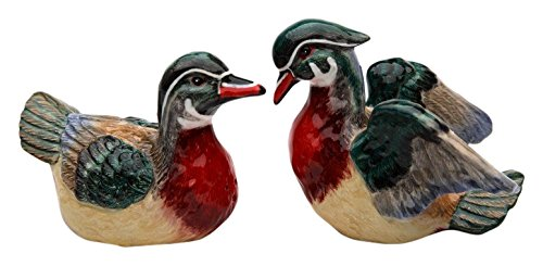 StealStreet SS-CG-10092 4.25'' Ceramic Wood Duck Salt and Pepper Shakers (Set of 2)