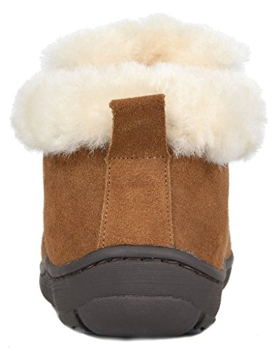 Huggie Women's PAIRS Winter Suede chesnut Leather Boots DREAM Sheepskin Lining Fur 4FqAw
