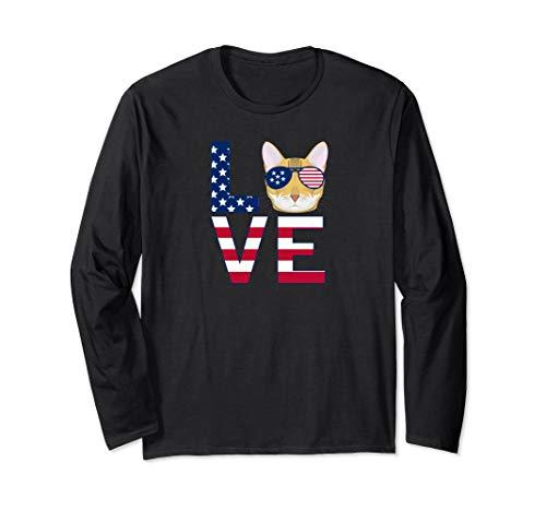 Patriotic Bengal Cat Long Sleeve T-Shirt