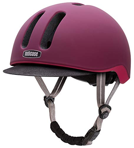 (Nutcase - Metroride Bike Helmet for Adults, Garnet Matte, Large/X-Large)