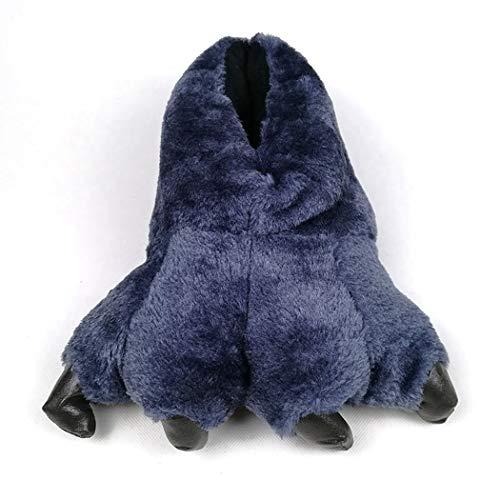Chaudes Thermique En Griffe Pantoufles Doux Coton Drôle Bleu Bottes Animal De Hiver Noël Patte Maison IwEqYq