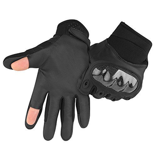 accmor Tactical Gloves Touch Screen With Cut Fingers Design, Tactical Military Hard Knuckle Full Finger Gloves Fit for Cycling Motorcycle Hiking Camping Airsoft Paintball by accmor