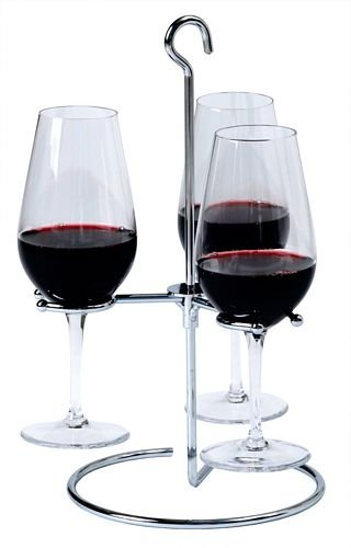 Light and Sturdy Stainless Steel Trio Wine Flight Glass Holder
