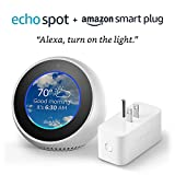 Echo Spot bundle with Amazon Smart Plug - White