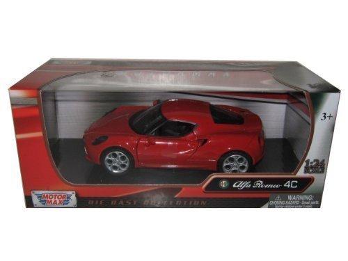Motormax Alfa Romeo 4C 1 24 Scale Diecast Model Car rot by Motormax