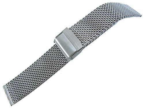 Watch Band Titanium Mesh - JRRS7777 Men's Watch Band 20mm Stainless Steel Mesh Bracelet Titanium 1.0X20PT