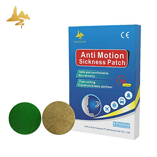 Motion Sickness Patch,Seasick Patches for Cruise Works to Relieve Vomiting,Nausea,Dizziness,Cruise Essentials 6 Patches