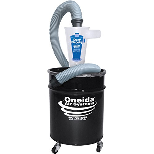 (Oneida Molded Deluxe Dust Deputy Kit with 10-Gallon Steel Drum)