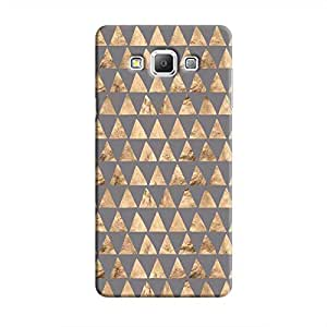 Cover It Up - Brown Grey Triangle Tile Galaxy A5 Hard Case