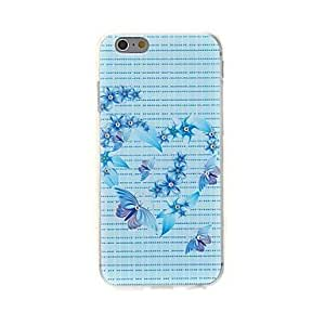 TOPAA Kinston Heart Flower Butterfly Diamond Paste Pattern TPU Soft Cover for iPhone 6
