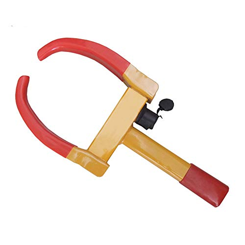 Sunsamy Auto Wheel Lock, Heavy Duty Anti-Theft Car Wheel Clamp Claw Style- Yellow/Red 2 Keys