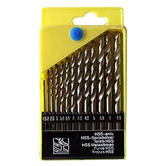 DeoDap High-Speed Drill Bits for Wood, Malleable Iron, Aluminium, Plastic - Set of 13 Pieces