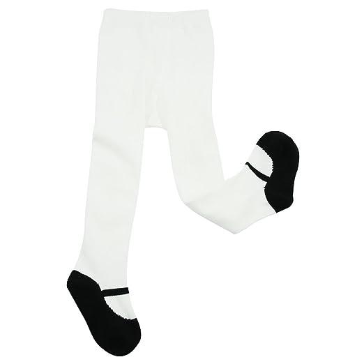 37cd53da5 Amazon.com: ComiFun 1-3 Years Baby Girl Leggings, Kids Toddler Cotton Tights  Pants Leggings 1 Pair for Birthday Gift,Black/White: Clothing