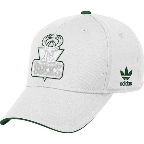 Milwaukee Bucks Adidas NBA Tonal Pop Flex-Fit Hat (White) L/XL