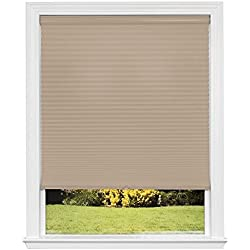 Artisan Select No Tools Custom Cordless Cellular Light Filtering Shades, Khaki, 47 7/8 in x 72 in