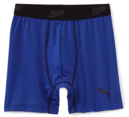 PUMA Little Boys' Single Boys Boxer Brief, Blue, Large ()