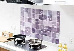 Self Adhesive Kitchen Oil-Proof Sticker Bathroom Waterproof Wall Sticker Cabinet Stove Decorative Film Mosaic Wall Paper-8QZ0834