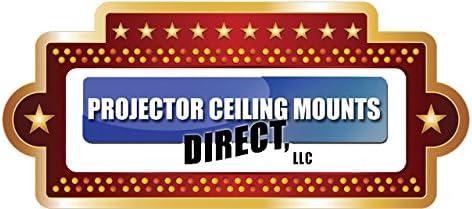 PCMD, LLC. Projector Ceiling Mount Compatible with Epson EB-L400U L500 L500W L510U L610 L610U L610W (Telescoping 23-30-Inch Extension) 71DMiUFaMWL