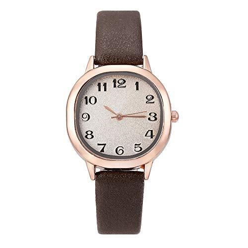 NXDA Wrist watch simple atmospheric leather strap quartz movement alloy shell square watch Arabic digital matte dial (Gray) - Clock Arabic Square