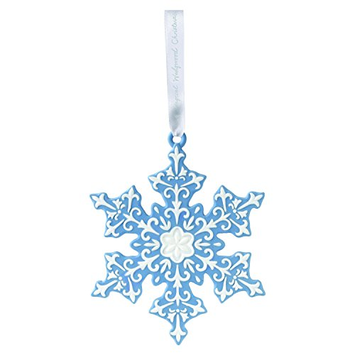 - Wedgwood 2018 Annual Holiday Ornament Figural Snowflake, Blue