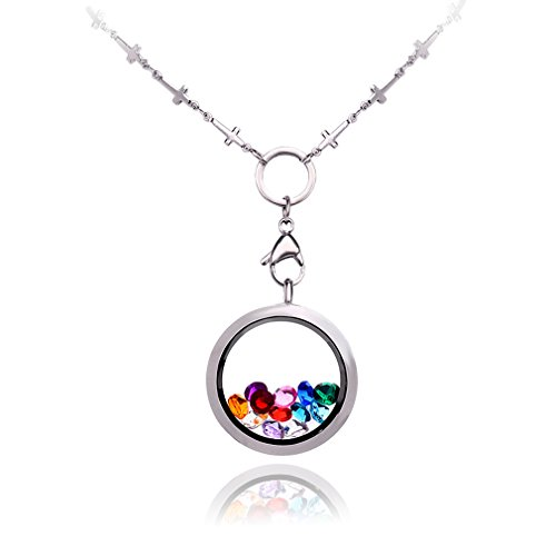Floating Lockets Pendant Necklace Stainless