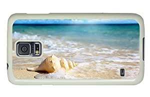 Hipster glitter Samsung Galaxy S5 Cases Beach Shell PC White for Samsung S5