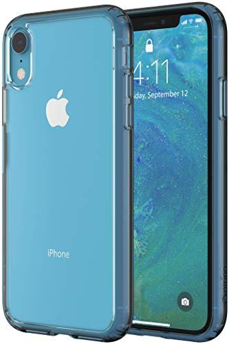Altigo iPhone XR Case - Clear Case with Blue Crystal Bumper
