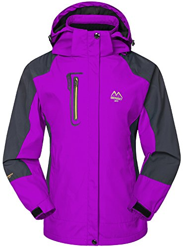 Coat con Rain Donna Viola Softshell Outdoor Pesca Windbreaker Mochoose Mountain Caccia Sci Campeggio Sportwear Impermeabile Giacche Jacket Working Cappuccio 7RqCfx