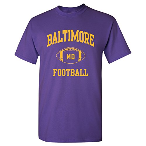 - Baltimore Classic Football Arch Basic Cotton T-Shirt - Medium - Purple